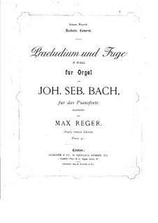 Präludium und Fuge Nr.3 in e-Moll, BWV 533: Bearbeitung für Klavier by Johann Sebastian Bach
