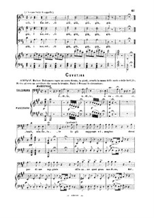 Der Liebestrank: Udite, udite, o rustic. Cavatina for bass by Gaetano Donizetti