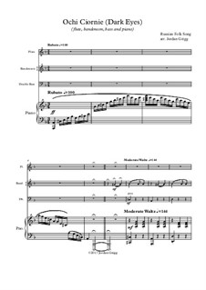 Dark Eyes: For flute, bandoneon, bass and piano by folklore