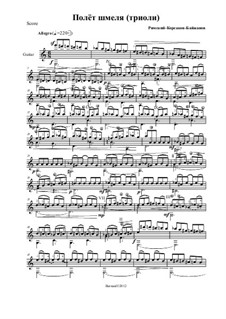 Das Märchen vom Zaren Saltan. Oper: Flight of the Bumblebee, for guitar by Nikolai Rimsky-Korsakov