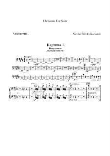Die Nacht vor dem Christfeste. Suite: Cellostimme by Nikolai Rimsky-Korsakov