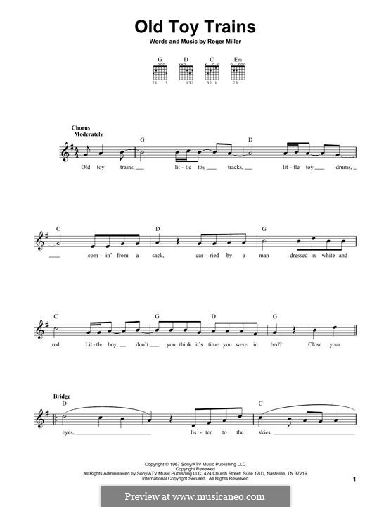 Old Toy Trains: Für Gitarre by Roger Miller