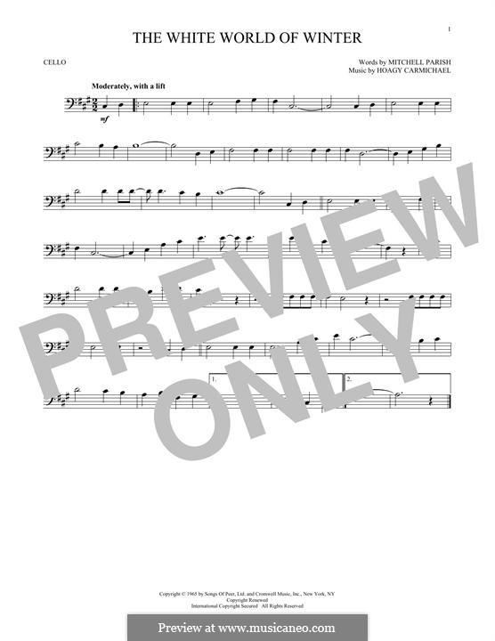 The White World of Winter: Für Cello by Hoagy Carmichael