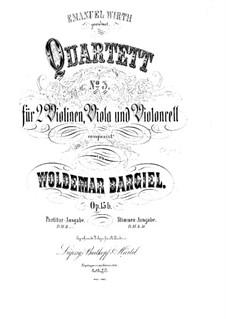 Streichquartett Nr.3 in a-Moll, Op.15b: Vollpartitur by Woldemar Bargiel