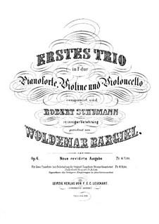 Klaviertrio No.1, Op.6: Vollpartitur by Woldemar Bargiel