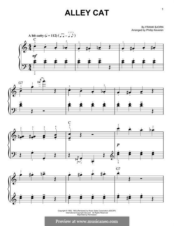 Alley Cat: Für Klavier by Frank Bjorn