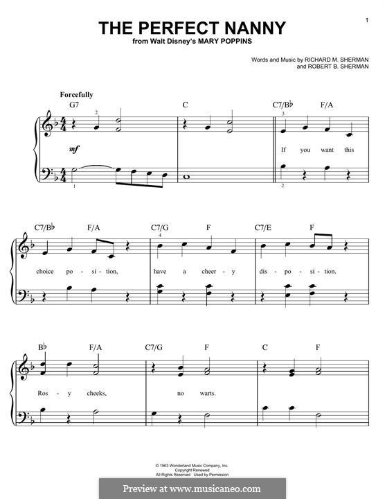 The Perfect Nanny: Für Klavier by Richard M. Sherman, Robert B. Sherman