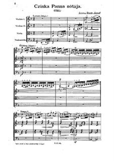 Czinka Panna nótája: Partitur by József Bloch