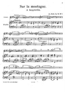 Deux Morceaux Idylliques, Op.53: No.1 A hegytetön (Sur la maontagne) by József Bloch