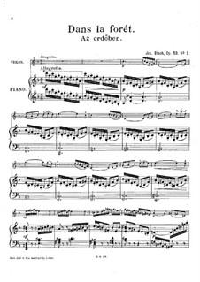 Deux Morceaux Idylliques, Op.53: No.2 Az erdöben (Dans la forêt) by József Bloch