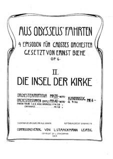 Aus Odysseus' Fahrten, Op.6: Teil II Die Insel der Kirk by Ernst Boehe