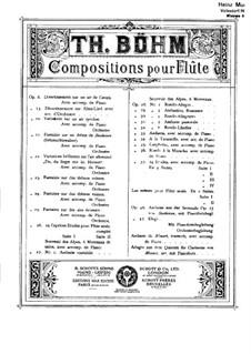 Variationen über ein deutsches Aria, Op.22: Partitur by Theobald Böehm