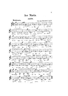 Ave Maria, Op.3: Altstimme by Giuseppe Buonamici