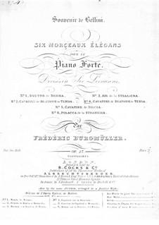Kavatine aus 'Der Montagues und der Capulets' von Bellini, Op.26: Für Klavier by Johann Friedrich Burgmüller