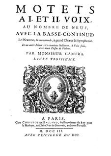 Motetten: Buch III by André Campra