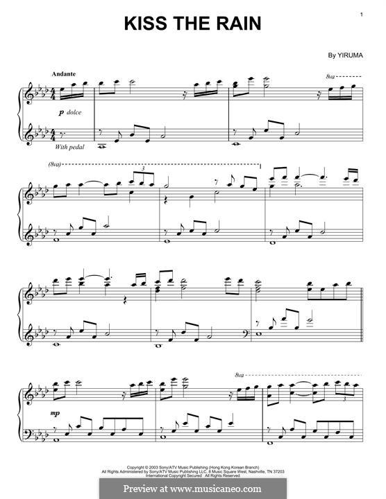 Kiss the Rain: Für Klavier by Yiruma