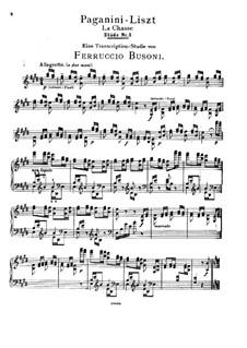 Grosse Etüden nach Paganini, S.141: Nr.5 in E-Dur (Herausgegeben von Busoni) by Franz Liszt