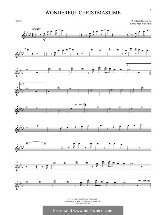 Wonderful Christmastime: Für Flöte by Paul McCartney