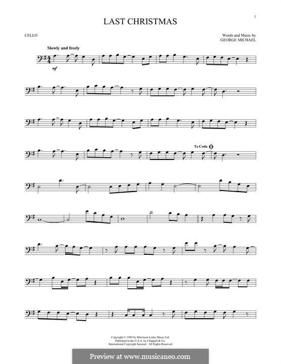 Last Christmas (Wham!): Für Cello by George Michael