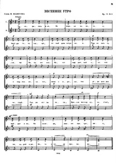 Seven Little Choirs on Texts by Belousov, Op.77: Nr.1 by César Cui