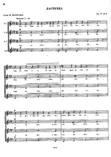 Seven Little Choirs on Texts by Belousov, Op.77: Nr.7 by César Cui