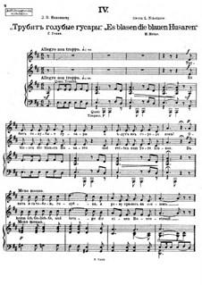 Vierundzwanzig Gedichte, Op.86: Nr.4 Es blasen die blauen Husaren by César Cui