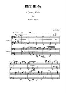 Bethena: Für Klavier, vierhändig by Scott Joplin