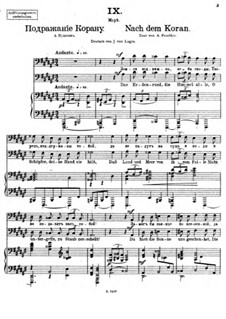 Vierundzwanzig Gedichte, Op.86: Nr.9 Nach dem Koran by César Cui