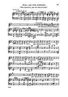 No.38 How beautiful are the feet of them: Aria for soprano by Georg Friedrich Händel