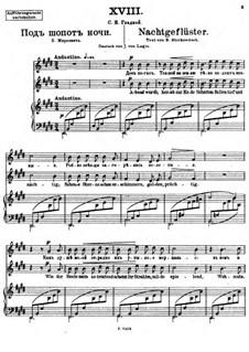 Vierundzwanzig Gedichte, Op.86: Nr.18 Nachtgeflüster by César Cui