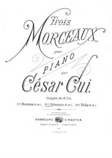 Drei Stücke, Op.8: Nr.2 Scherzino by César Cui