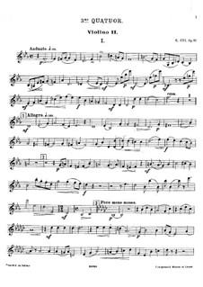 Streichquartett Nr.3 in Es-Dur, Op.91: Violinstimme II by César Cui