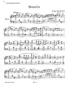 Fünf Stücke, Op.95: Nr.2 Mazurka by César Cui
