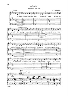Athalia, HWV 52: O Lord, whom we adore. Recitative and Aria for alto/countertenor by Georg Friedrich Händel