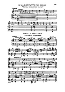 No.43 Thou shalt break them: Recitative and Aria for tenor by Georg Friedrich Händel