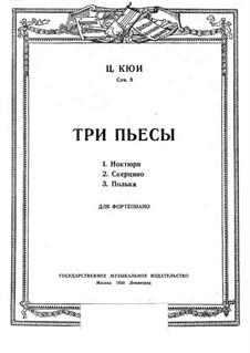 Drei Stücke, Op.8: Vollsammlung by César Cui