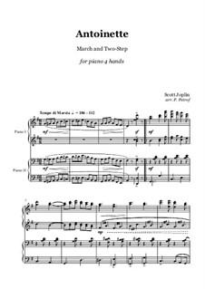 Antoinette: Für Klavier, vierhändig by Scott Joplin