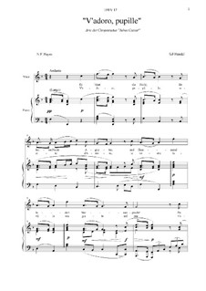 Julius Cäsar, HWV 17: V'adoro pupille... Aria di Cleopatra by Georg Friedrich Händel