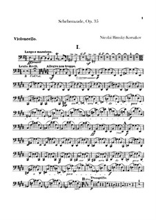 Scheherazade, Op.35: Cellostimme by Nikolai Rimsky-Korsakov