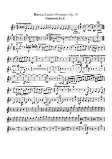 Russische Ostern, Op.36: Klarinettenstimmen by Nikolai Rimsky-Korsakov