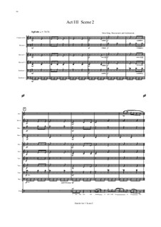 Hamlet: Act III, Sc.2 – score by Nancy Van de Vate
