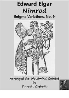 Variation Nr.9 'Nimrod': For woodwind quintet by Edward Elgar