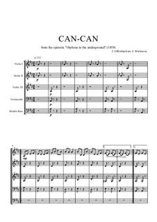 Cancan: Für Streichorchester by Jacques Offenbach