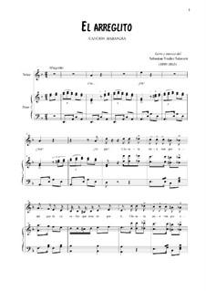 El Arreglito: Für Stimme und Klavier by Sebastián Yradier