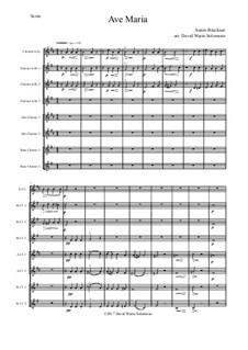 Ave Maria, WAB 6: For clarinet choir by Anton Bruckner