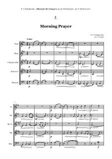 No.1 Morning Prayer: For woodwind quintet by Pjotr Tschaikowski