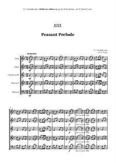 Nr.12 Zieharmonika spielender Bauer: For woodwind quintet by Pjotr Tschaikowski