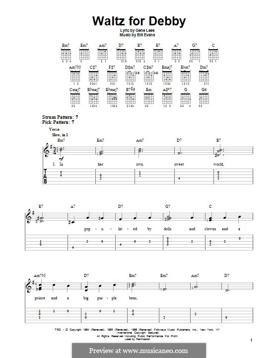 Waltz for Debby: Für Gitarre mit Tabulatur by Bill Evans