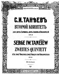 Streichquintett Nr.2 in C-Dur, Op.16: Violinstimme I by Sergei Taneyev