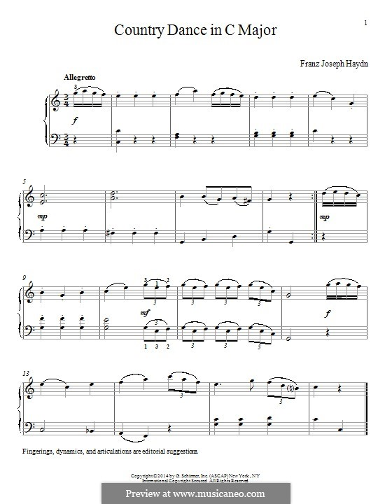 Country Dance in C Major: Country Dance in C Major by Joseph Haydn